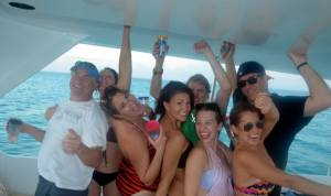 Boat excursion in Turks and Caicos
