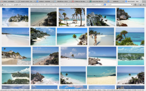 "Google ""Tulum Beach"" and click on the image tab, this is what you get."