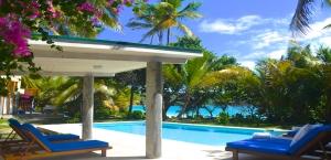Bequia's only beachfront villa.