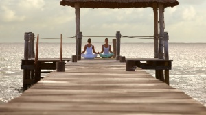 Set on a pier over the water, it's a beautiful spot to practice yoga.